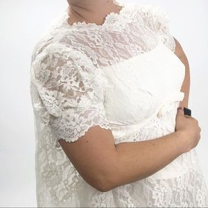 Vintage 70's empire lace wedding dress costume